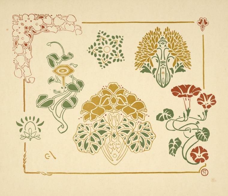 Цветы в стиле модерн картинки 8