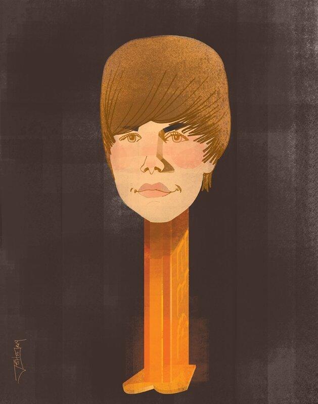 john jay illustration.Justin  Bieber