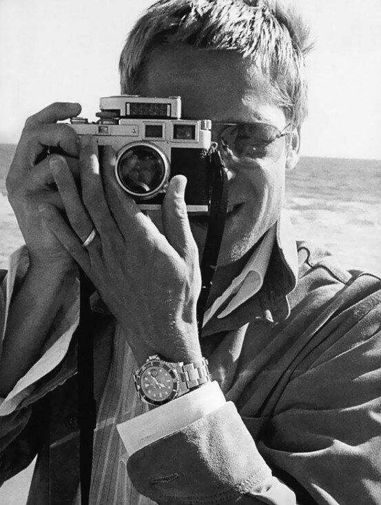 Brad Pitt with a Leica M3