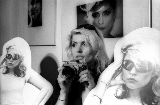 Debbie Harry with an SLR