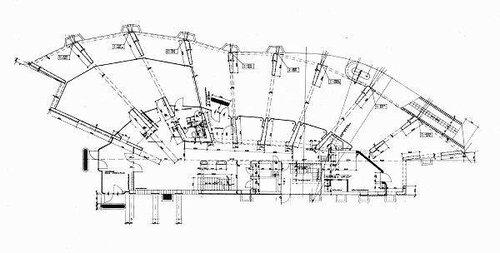 Алвар Аалто, Жилой дом в Бремене, план 1-ого этажа
