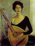 Леонид Нифонтов. Портрет Анны Марли. Париж 1954