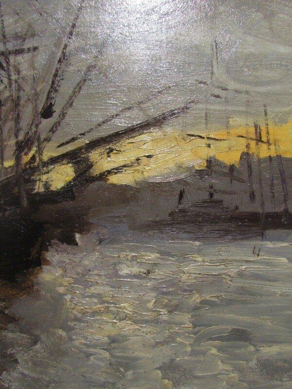 Коровин. Корабли. Марсель. 1890-е