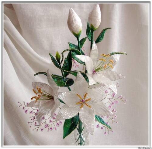 Светлана 19 Июнь. из бисера, бесплатные. цветы. схемы. лист. site. и. Лилия из бисера схема, кленовый. агата. из...