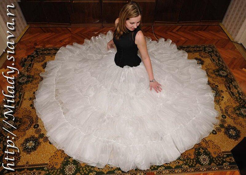 Свадебное пышное платье своими руками