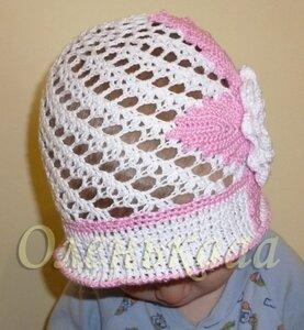 Летние вязанные шапочки,  шляпки и косынки 0_6c014_cafe7a1b_M