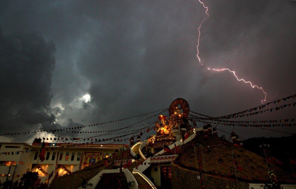 NEPAL-WEATHER-LIGHTNING