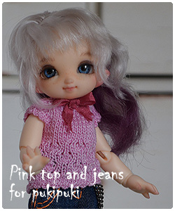 pink top and jeans for pukipuki