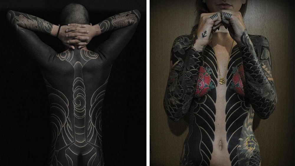Масштабные тату от японского мастера