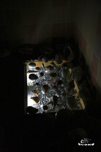 018. ванная комната, инсталляция пола с подсветкой, триплекс