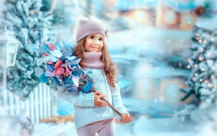 Новый год Девочка Снегурочка