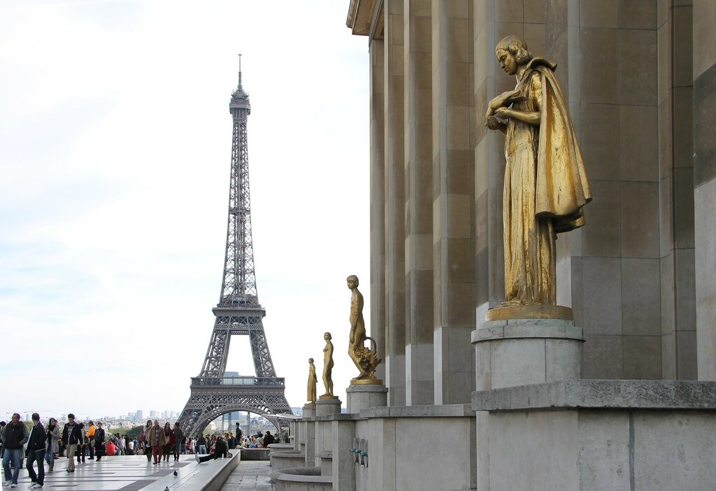Осенний Париж. Площадь Трокадеро (Place du Trocadéro)