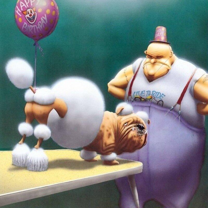 Смешные нарисованные собаки иллюстратора Бретеда Беркели