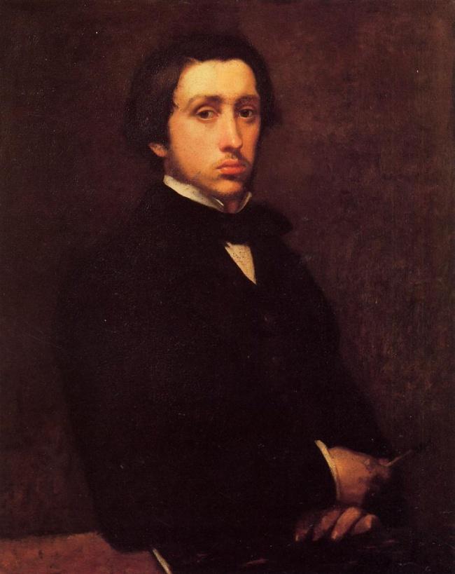 © wikiart.org  Автопортрет, 1855 Вначале карьеры Дега написал около 40автопортретов вразлич