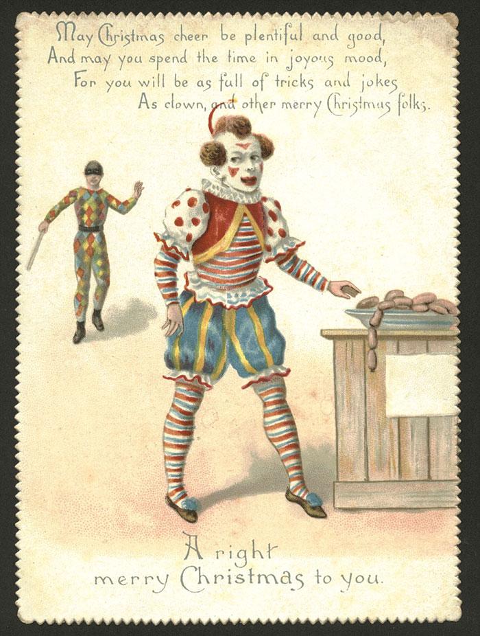 Викторианские рождественские открытки, которые заставят усомниться в добрых намерениях отправителя
