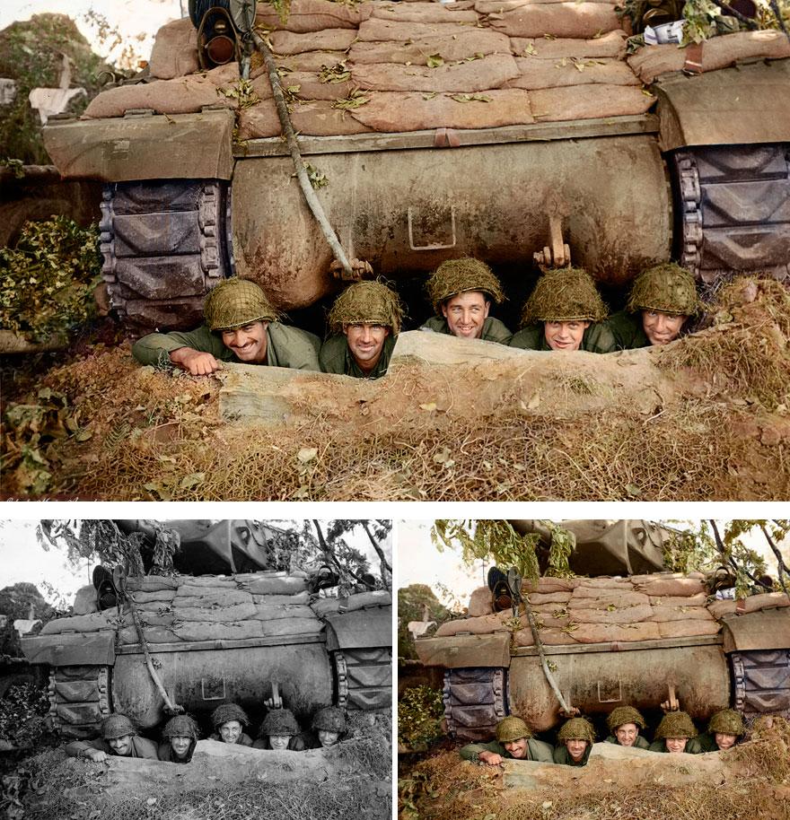 Команда противотанковой самоходной артиллерийской установки M10 («Росомаха»).