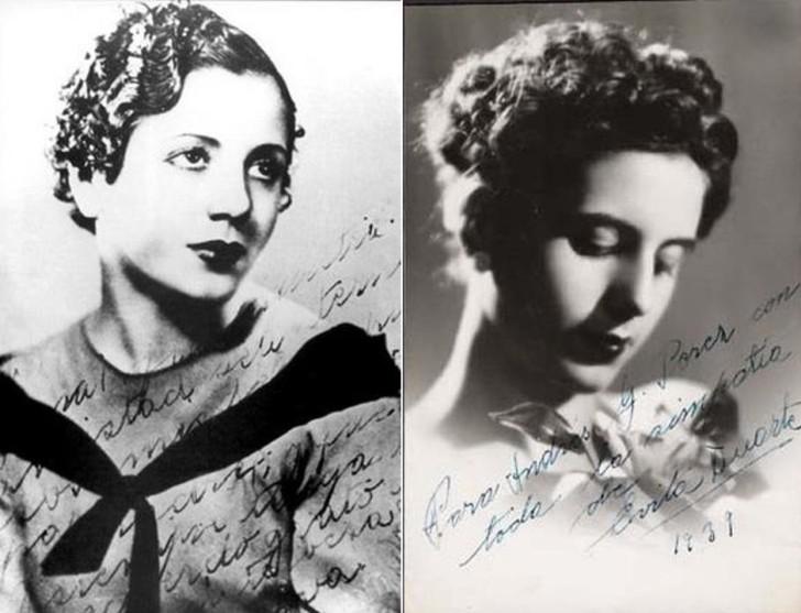 Эва в 1934 и в 1939 году