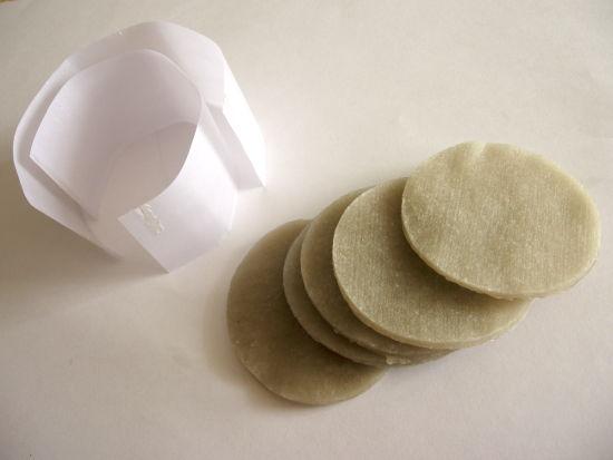 Парафиновые диски и вощёная бумага