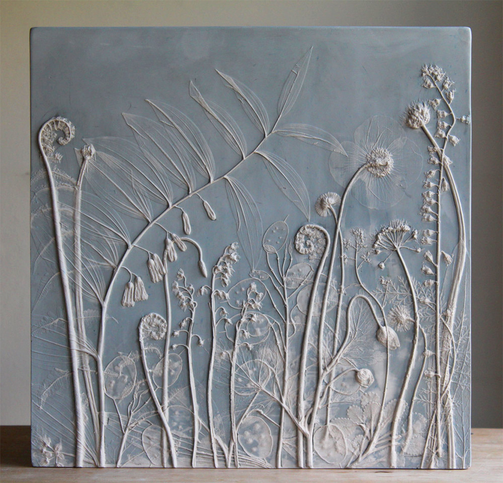 Fossils from Everyday Life: Plaster Cast Plant Tiles by Rachel Dein