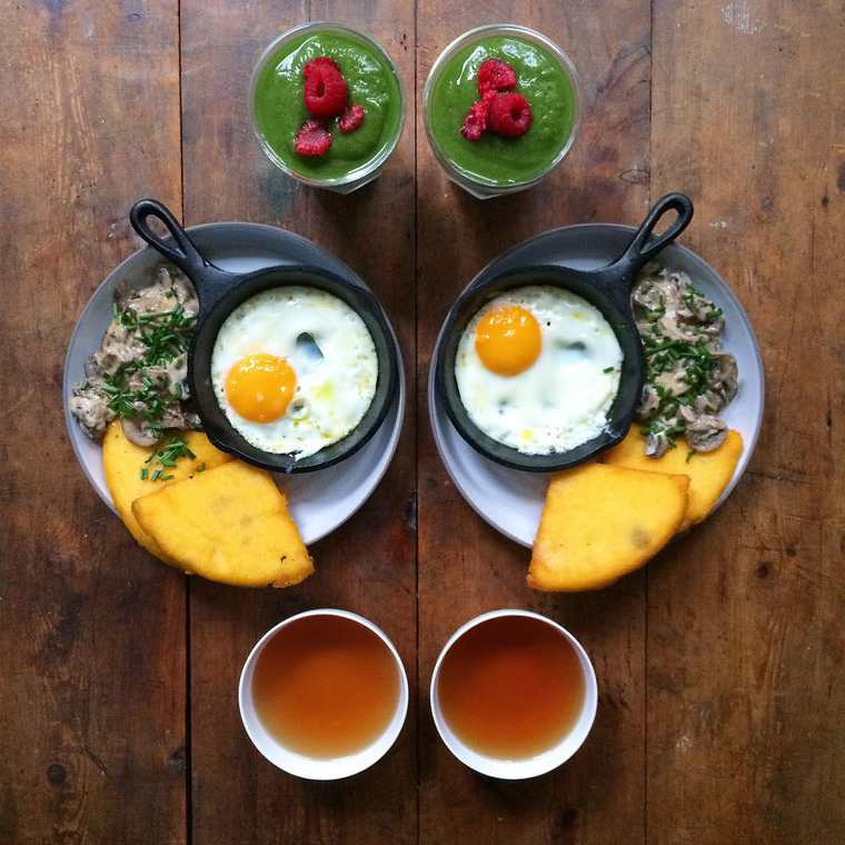 Symmetry Breakfast - He prepares everyday day a beautiful breakfast for his lover