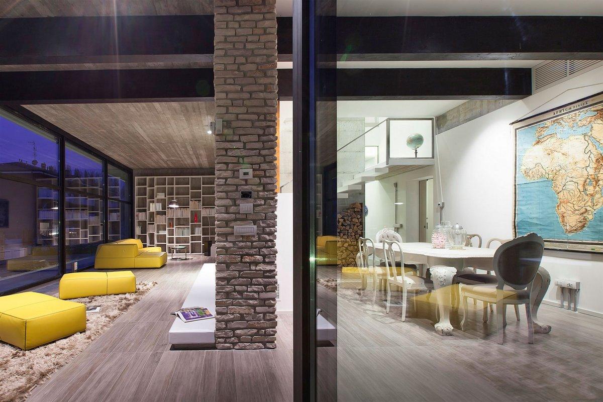 Residenza d'Autore, Giraldi Associati Architetti, частный дом в Болонье фото, итальянские частные дома фото, интерьер минимализм фото, дом в Италии