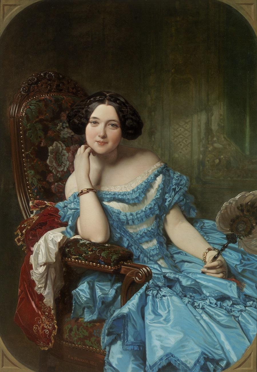 1853 Амалия де Льяно-и-Дотрес, графиня Вильчес (Amalia de Llano y Dotres, condesa de Vilches) Мадрид, музей Прадо