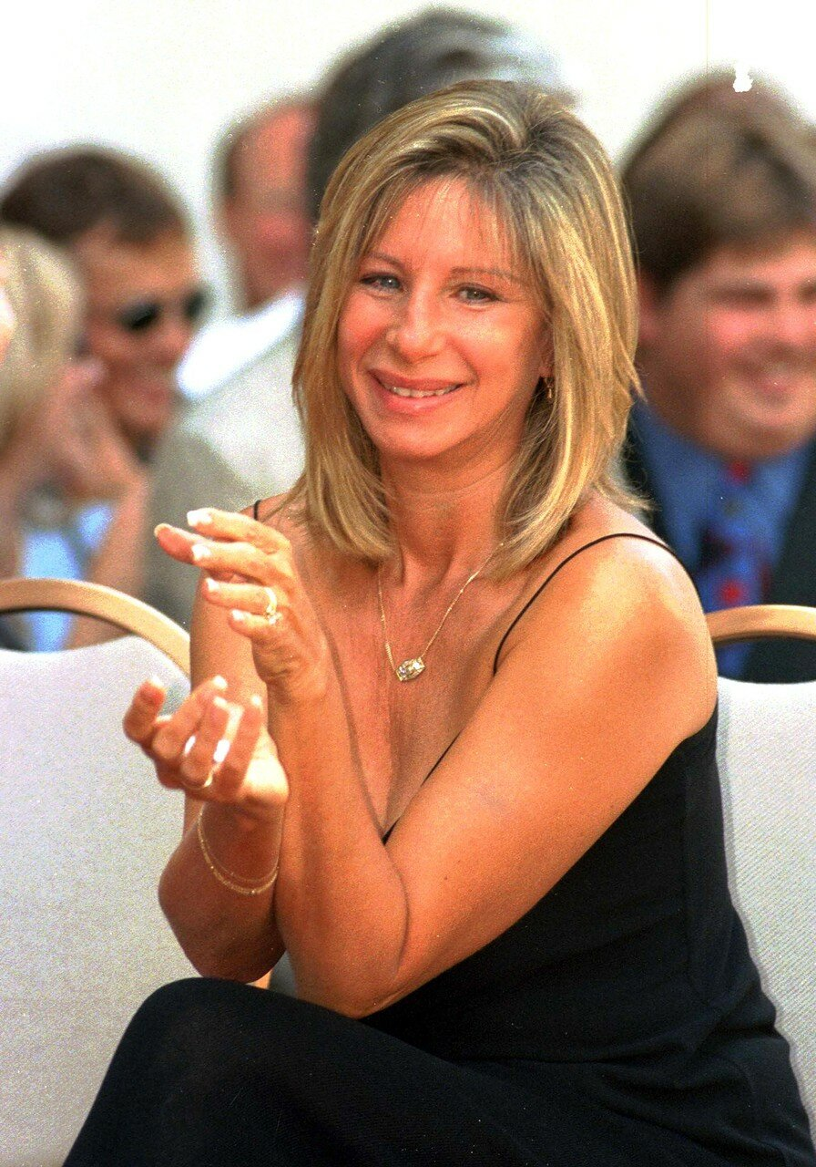 US singer and actress Barbra Streisand smiles duri