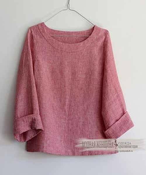 короткие блузки вариант для маленького роста. ткань смесовый лен
