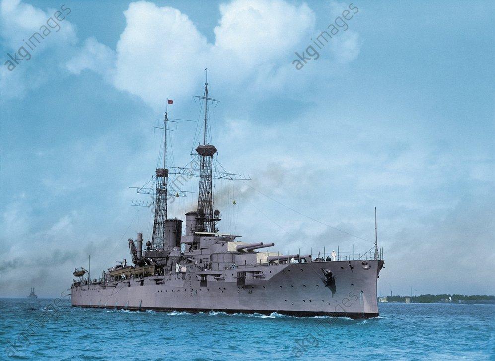 USA, Schlachtschiff 'Arkansas'/Foto 1917 - USA battleship 'Arkansas' / Photo, 1917 -