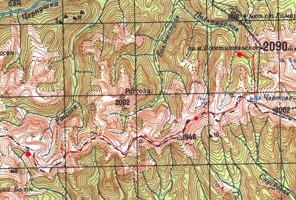 Карта маршрута 12 июня