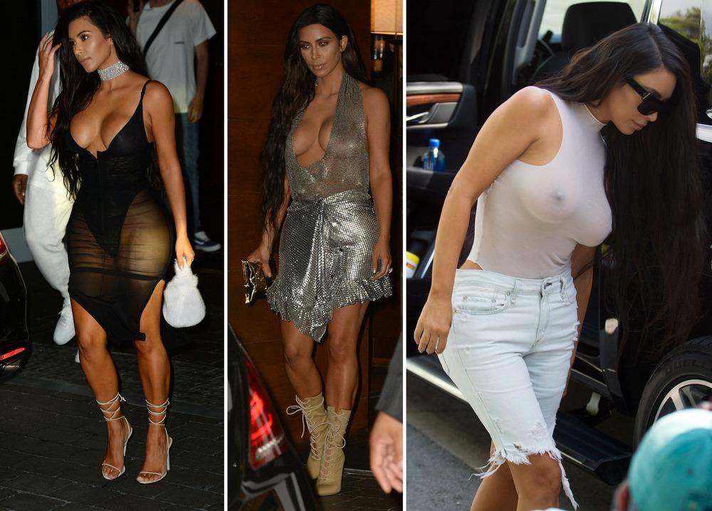 Ким Кардашян в сексуальных нарядах