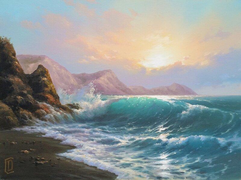 Крымский берег ... ( 30 на 40 см.)