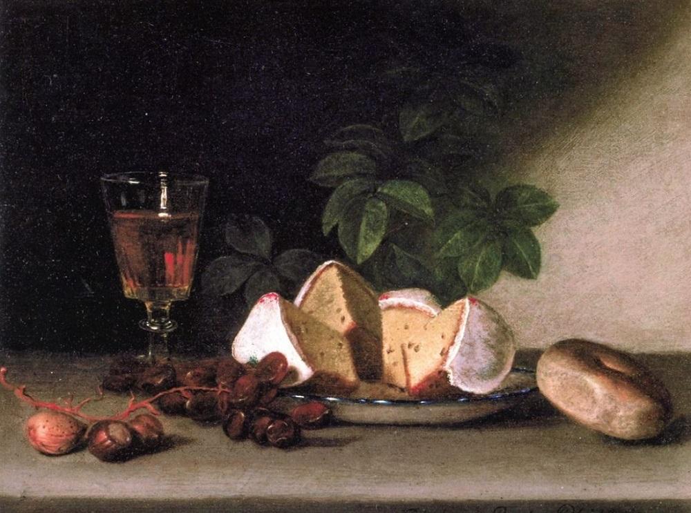 Рафаэль Пил. Натюрморт - вино, кексы и орехи. 1819