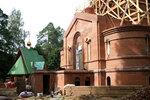 Строительство храма Донской иконы Божьей Матери в Перловке Мытищи Московской области. Август 2016