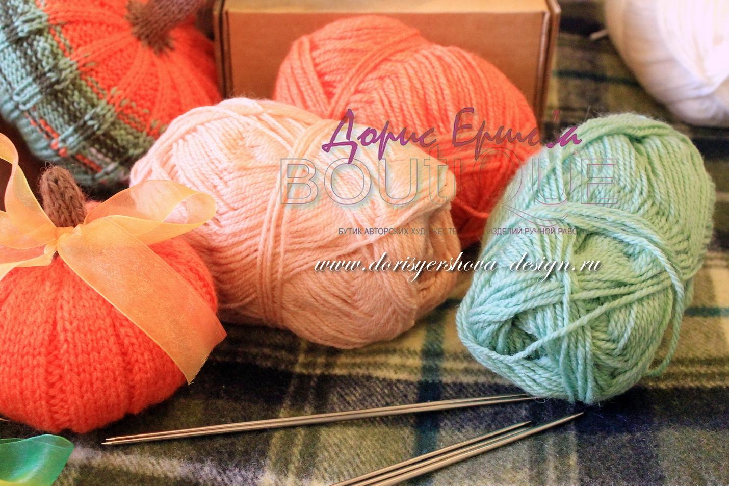 нитки для вязанья. спицы