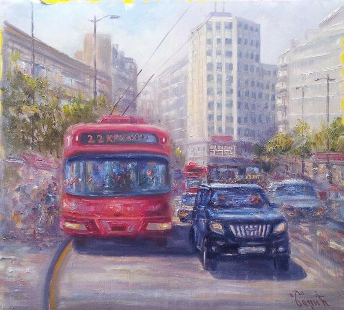 Сербский художник Miomir Badzic