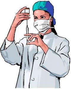 Открытки С днем медработника! Медсестра набирает лекарство в шприц
