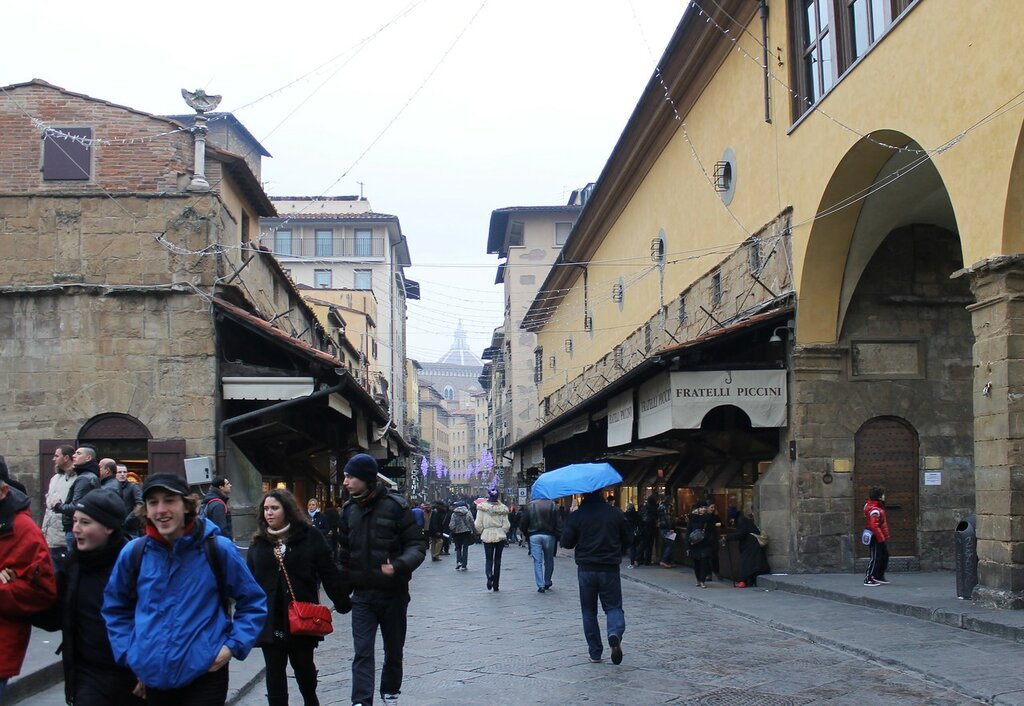 Florence in January. Ponte Vecchio