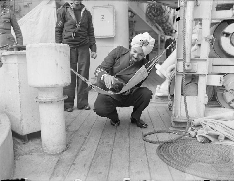 Aboard HM Indian Sloop Godavari. August 1943, Scapa Flow.
