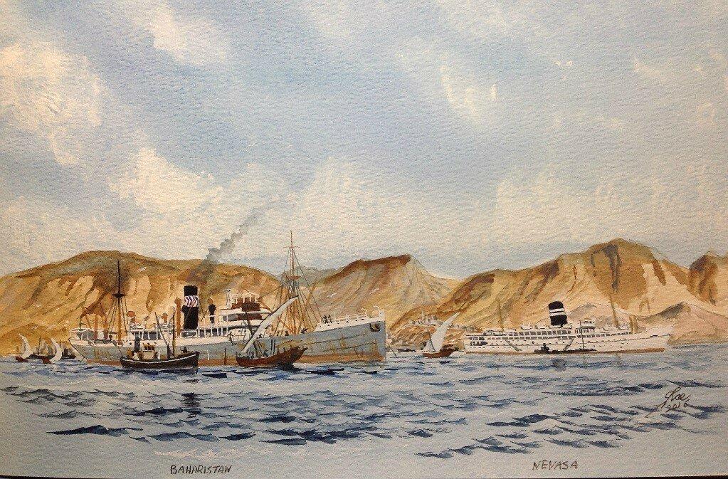 Baharistan and Nevasa off Aden.