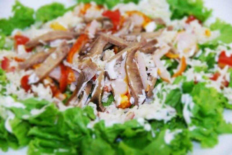 Мясной салат с говядиной, который действительно «Самый вкусный»!