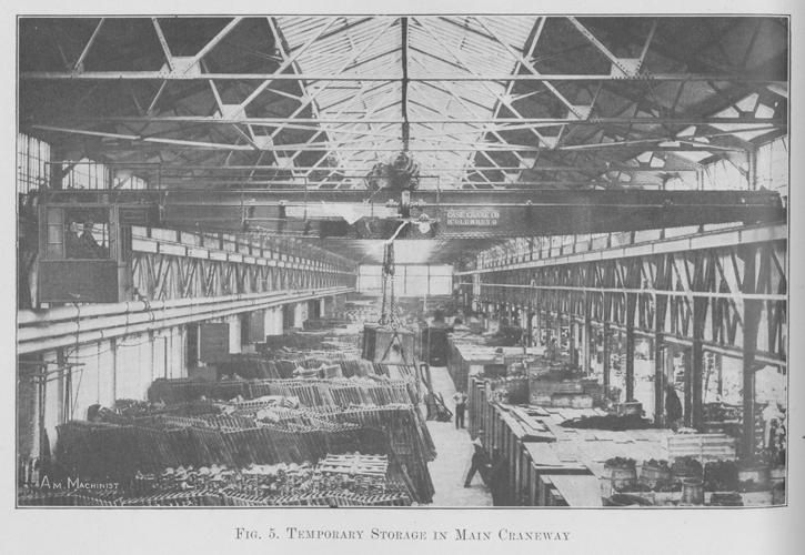 Подкрановый путь на заводе в Хайленд-Парке, 1914