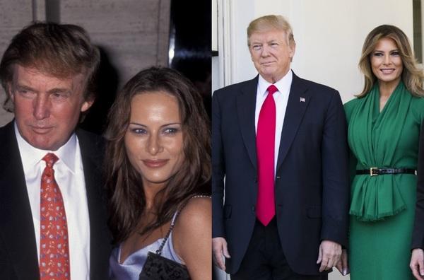 Мелания и Дональд Трамп .