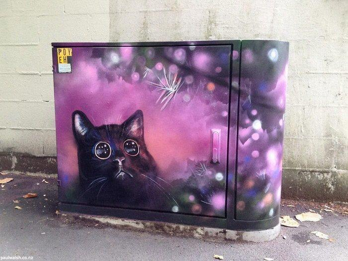 Распределительные ящики в качестве полотен для граффити (17 фото)