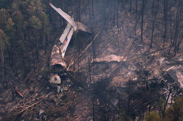 Разбившийся под Иркутском Ил-76 практически на100% сгорел— МЧС