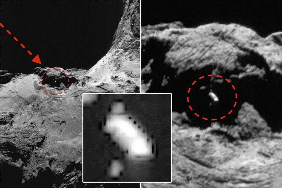 Уфолог: Наповерхности кометы 67Р найден космический корабль