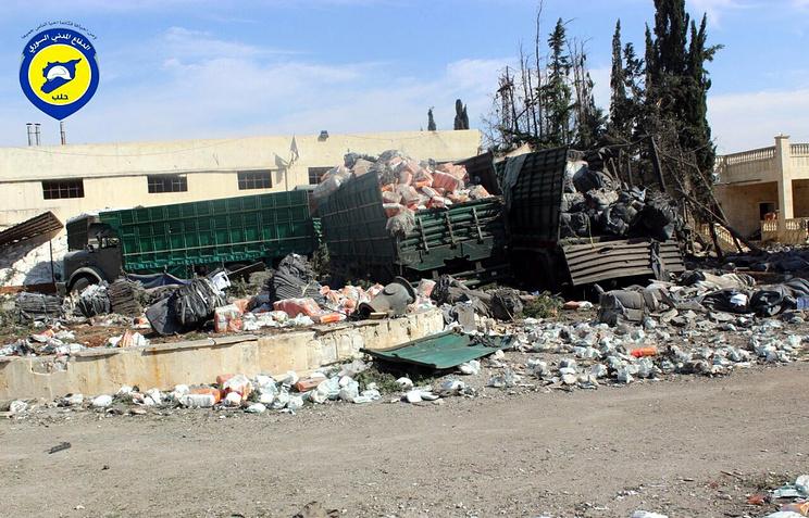 Повстанцы предупреждали ООН обопасности доставки грузов вАлеппо