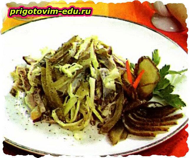 Салат с телятиной «Пикантный»