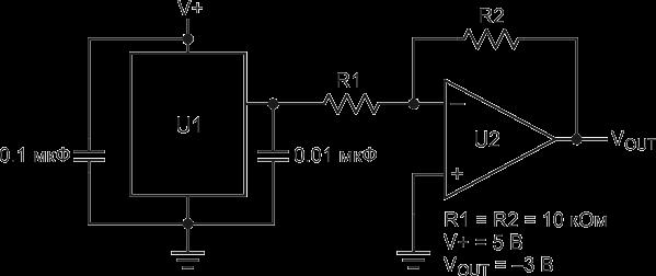 Простейший источник отрицательного опорного напряжения. 0_14c03d_1dcea53d_orig