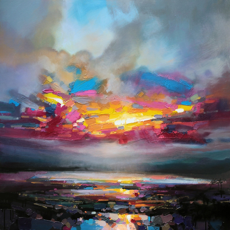Working with thick brushes and palette knives, artist Scott Naismith carefully reveals the interplay